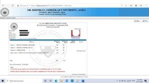 Result for Private 2019-20 dbrau Agra University